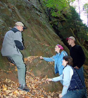 Students on a geology field trip