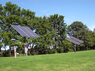 Solar panels on the south lawn of GCC