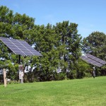 Solar panels on GCC's south lawn