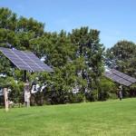 Solar panels on GCC's south lawn